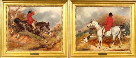 Attributed to William Shayer (British, 1788-1879)    Lot of Two Fox Hunting Scenes