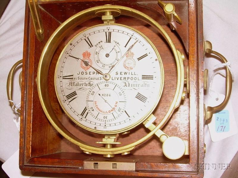 Marine Chronometer by Joseph Sewill
