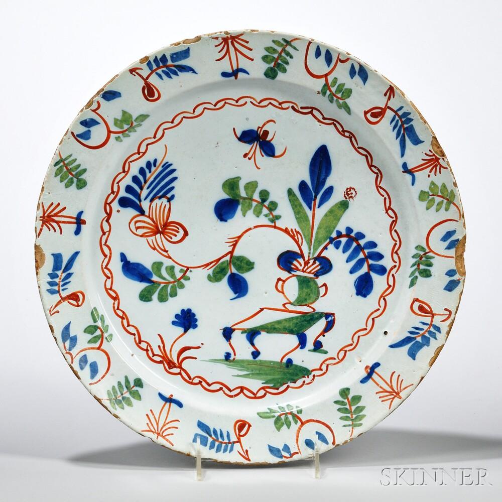 Tin-glazed Earthenware Kangxi   Dish