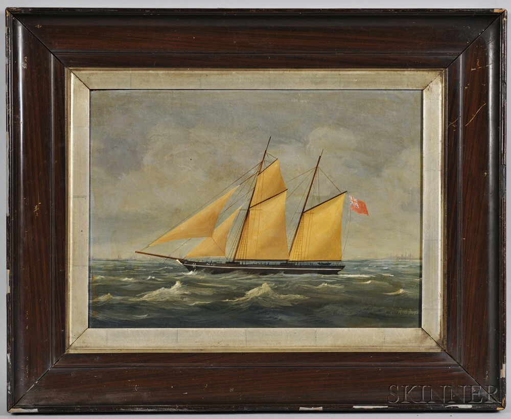 English School, 19th Century      Portrait of a Yacht