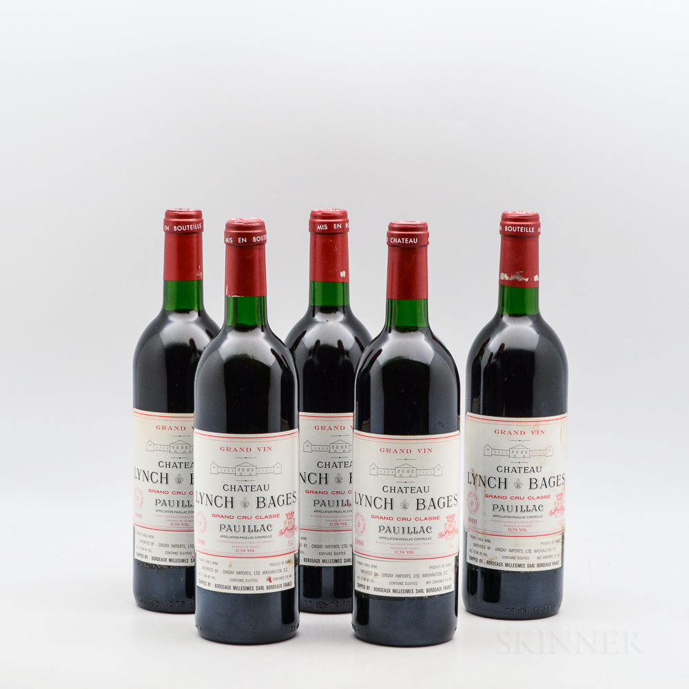 Chateau Lynch Bages 1990, 5 bottles
