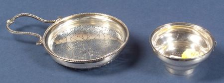 Two George III Silver Strainers