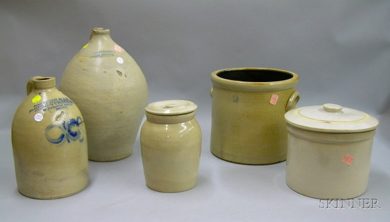 Five Assorted Stoneware Items