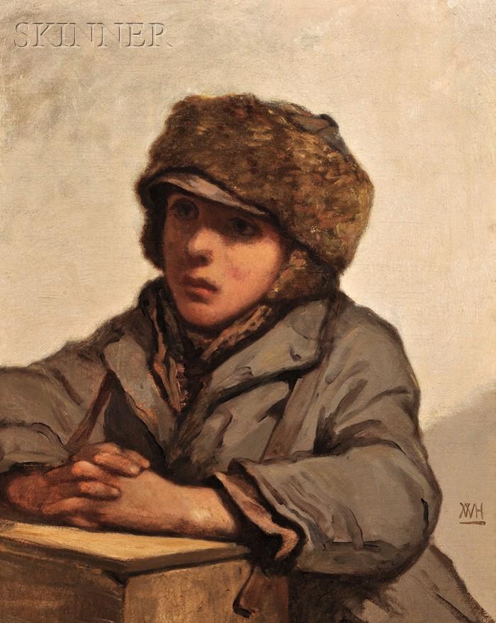 William Morris Hunt (American, 1824-1879)      The Boot Black
