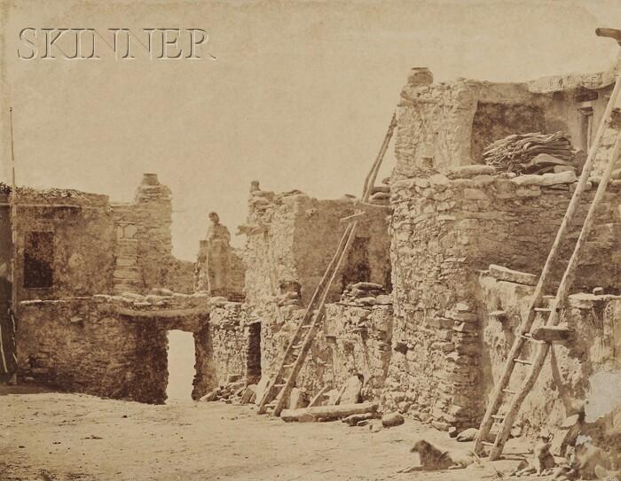 John K. Hillers (American, 1843-1925)      Stone Dwellings, possibly Wolpi