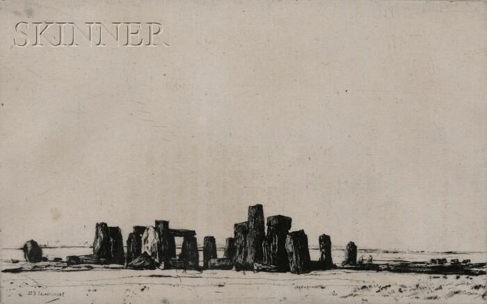 David Young Cameron (Scottish, 1865-1945)      Stonehenge