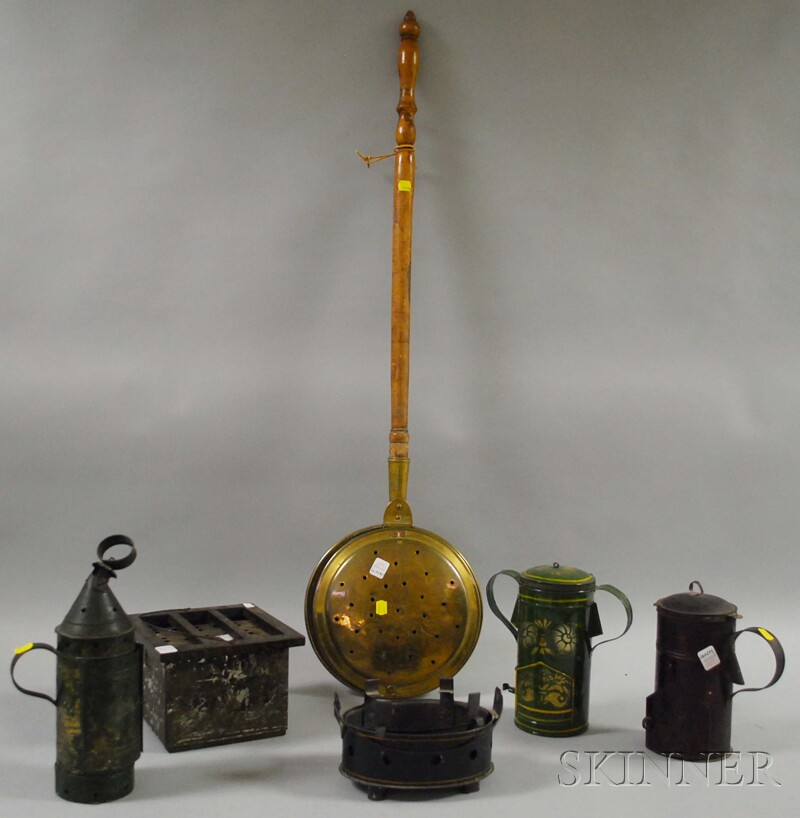 Six Tinware and Hearth Items