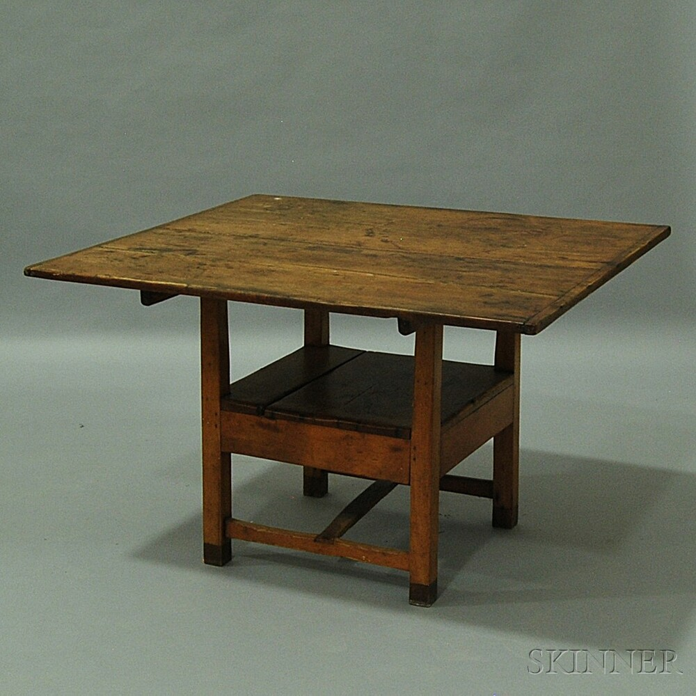 Country Pine and Maple Hutch Table