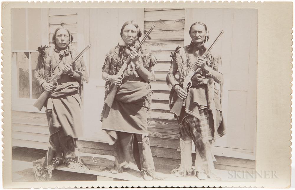 Cabinet Card Photo of Kiowa Indian Police