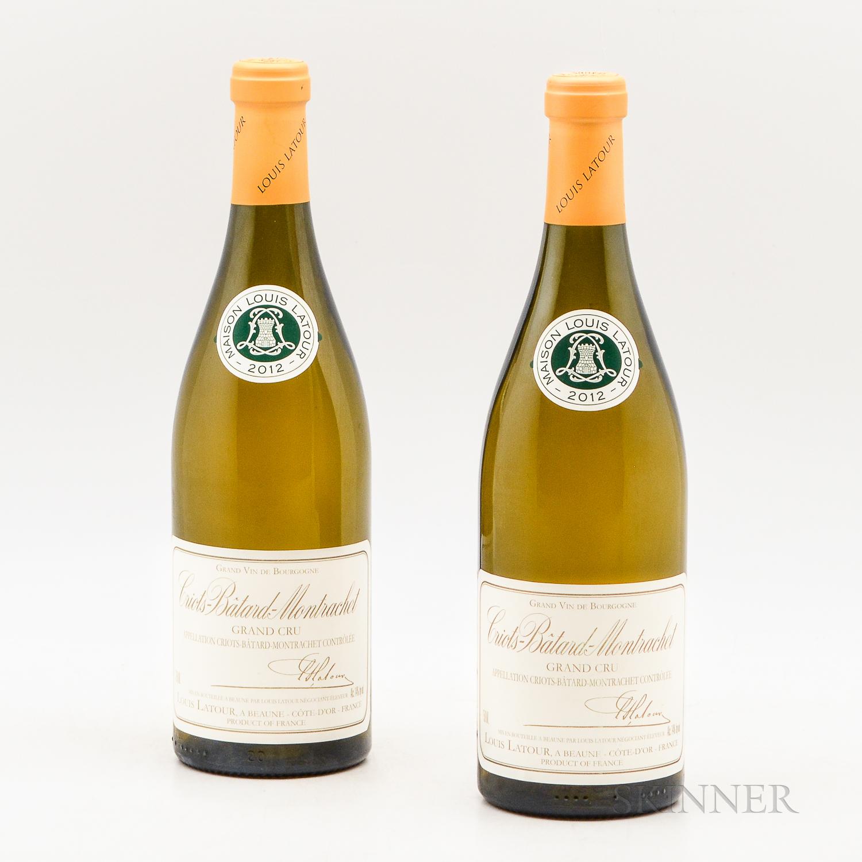 Louis Latour Criots Batard Montrachet 2012, 2 bottles
