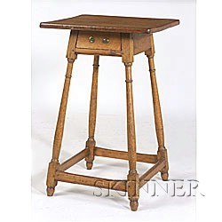 Yellow Pine and Oak Table,