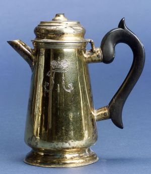 Paul I of Russia Goldwashed Silver Coffee Pot