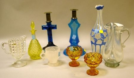Nine Pieces of Colored Glass