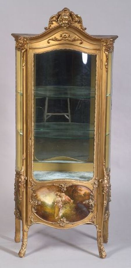 "Louis XV Style Giltwood and Gilt Composition ""Vernis Martin"" Vitrine"