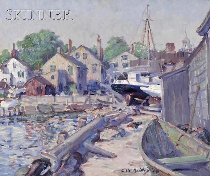 Clifford Warren Ashley  (American, 1881-1947)      Dockside View