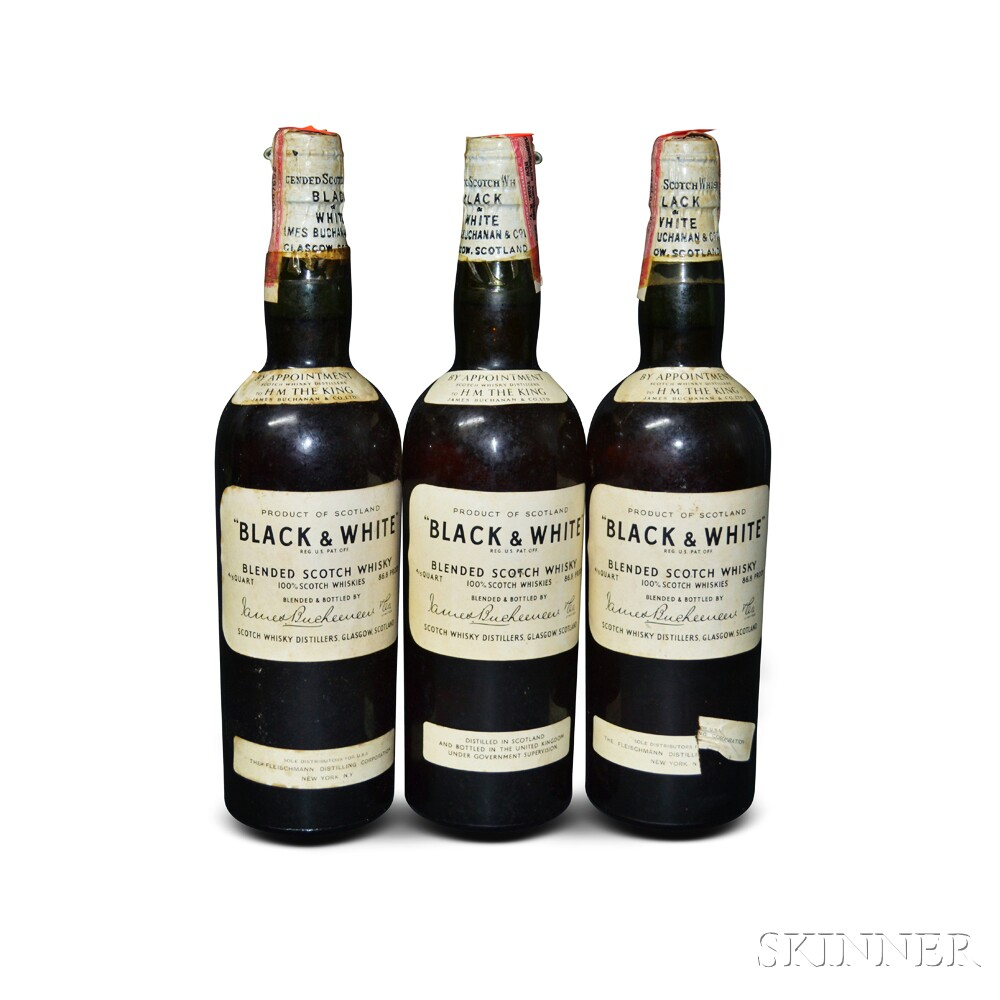 Buchanans Black & White, 3 4/5 quart bottles