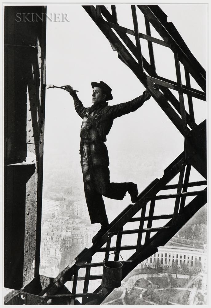Marc Riboud (French, 1923-2016)      Le Peintre de la Tour Eiffel (Painter of the Eiffel Tower), Paris