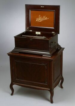 Stella 15 1/2-Inch Disc Musical Box On Stand