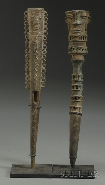 Two African Bronze Clapper-Bells