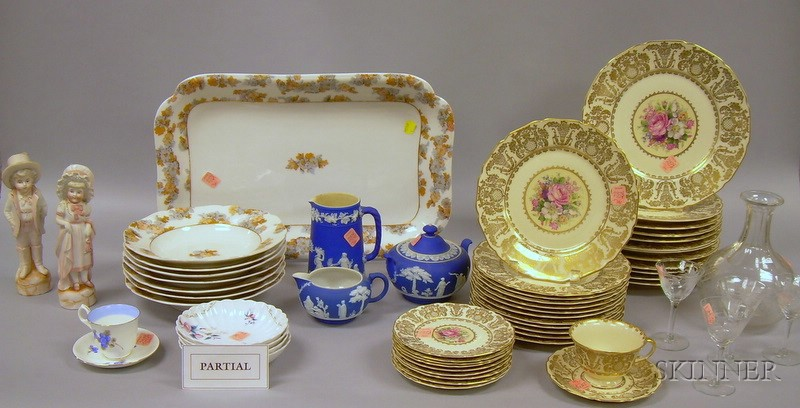 Assortment of China and Glass Tableware