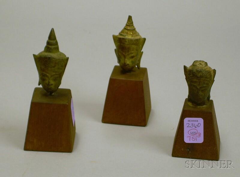 Three Bronze Heads