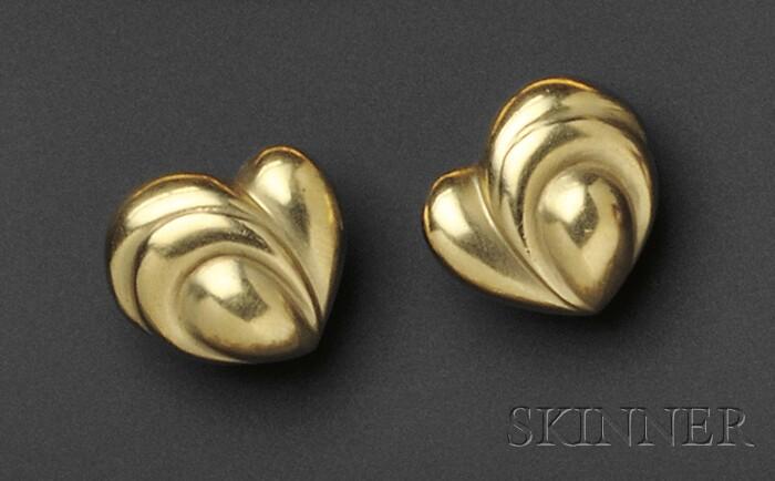 18kt Gold Earclips, Vahe Naltchayan