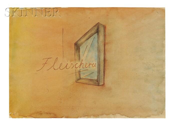 Raimund von Luckwald (German, b. 1955)      Lot of Two Works: Fleischerei