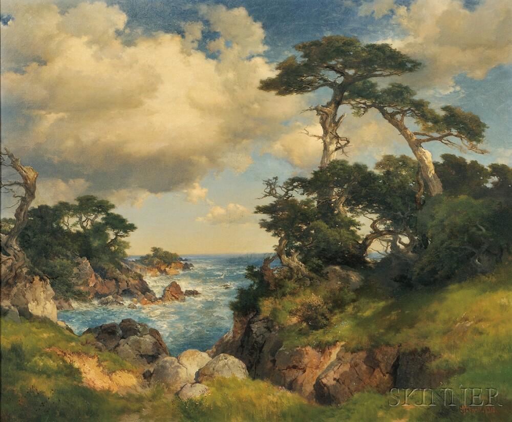 Thomas Moran (American, 1837-1926)      Coast of Monterey