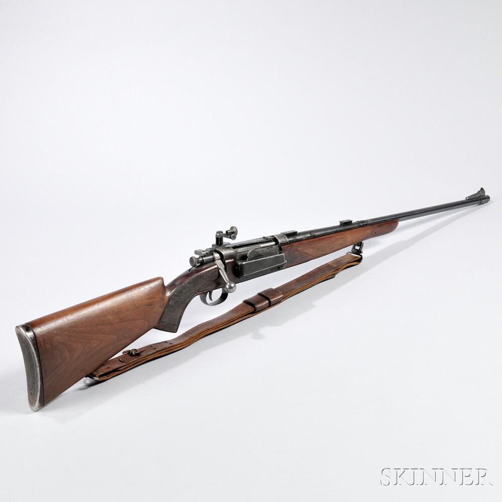Sporterized Krag Jorgensen Bolt-action Rifle