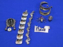 Group of Mexican Silver Jewelry.