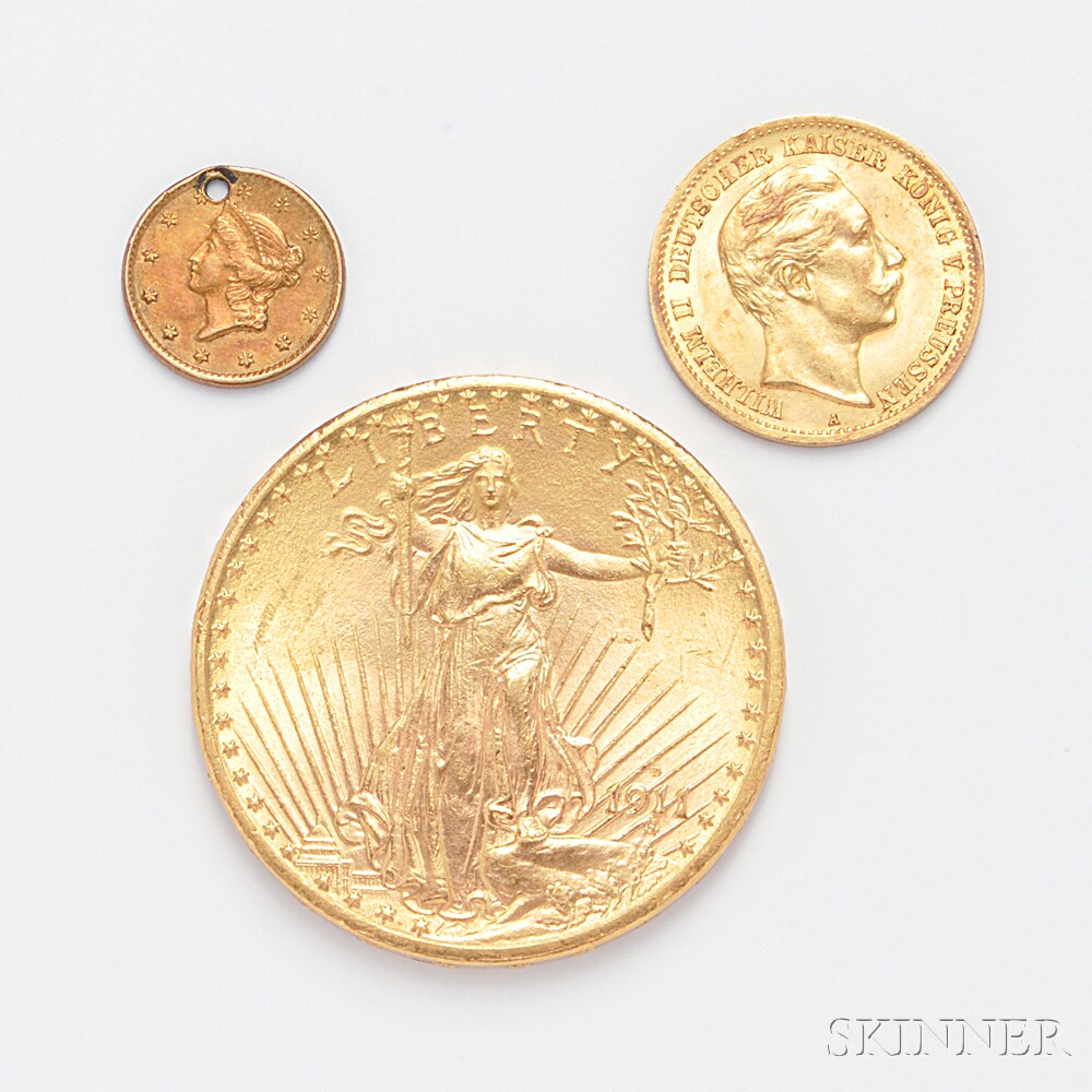 1911 Twenty Dollar Gold Double Eagle