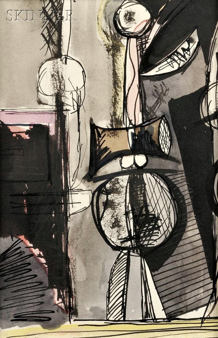 Robert Motherwell (American, 1915-1991)      The Mad Clown