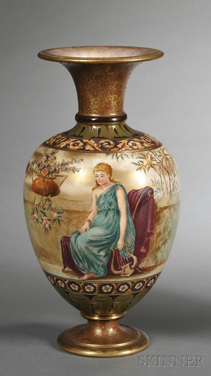 Doulton Burslem Hand-painted Vase