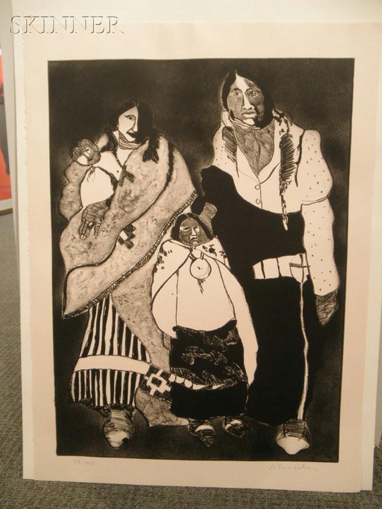 Fritz Scholder (Native American, 1937-2005)      American Family