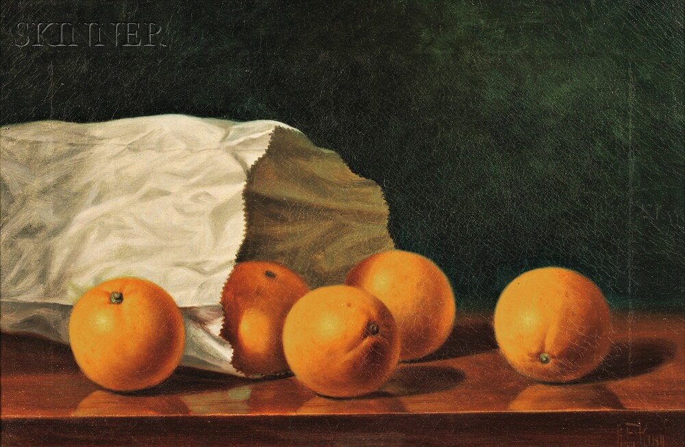 albert francis king american 1854 1945 still life with oranges in