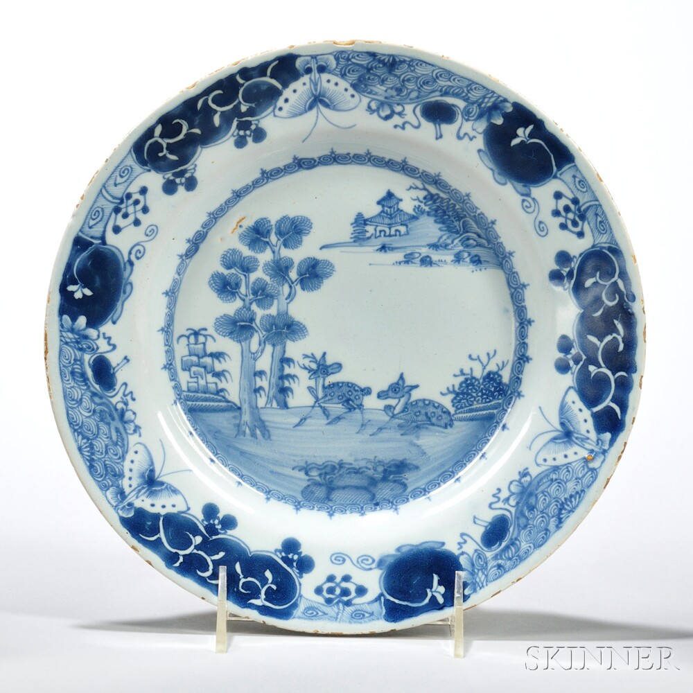 Tin-glazed Earthenware Deer Plate