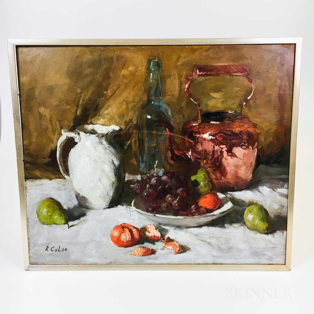 Rudolph Colao (Massachusetts, 1927-2014)       Still Life with Grapes