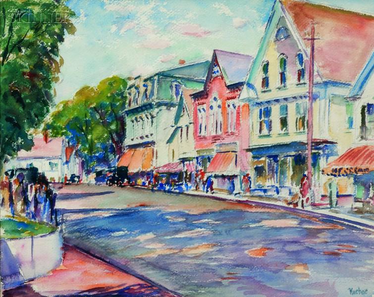 Max Kuehne (American, 1880-1968)      Street Scene, Rockport, Mass.