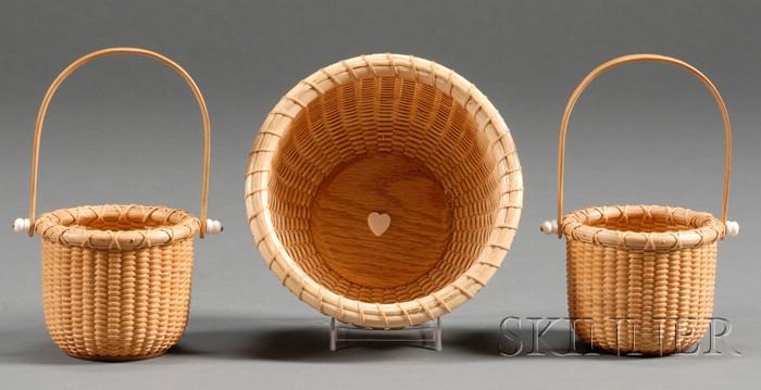Three Small Contemporary Nantucket Baskets