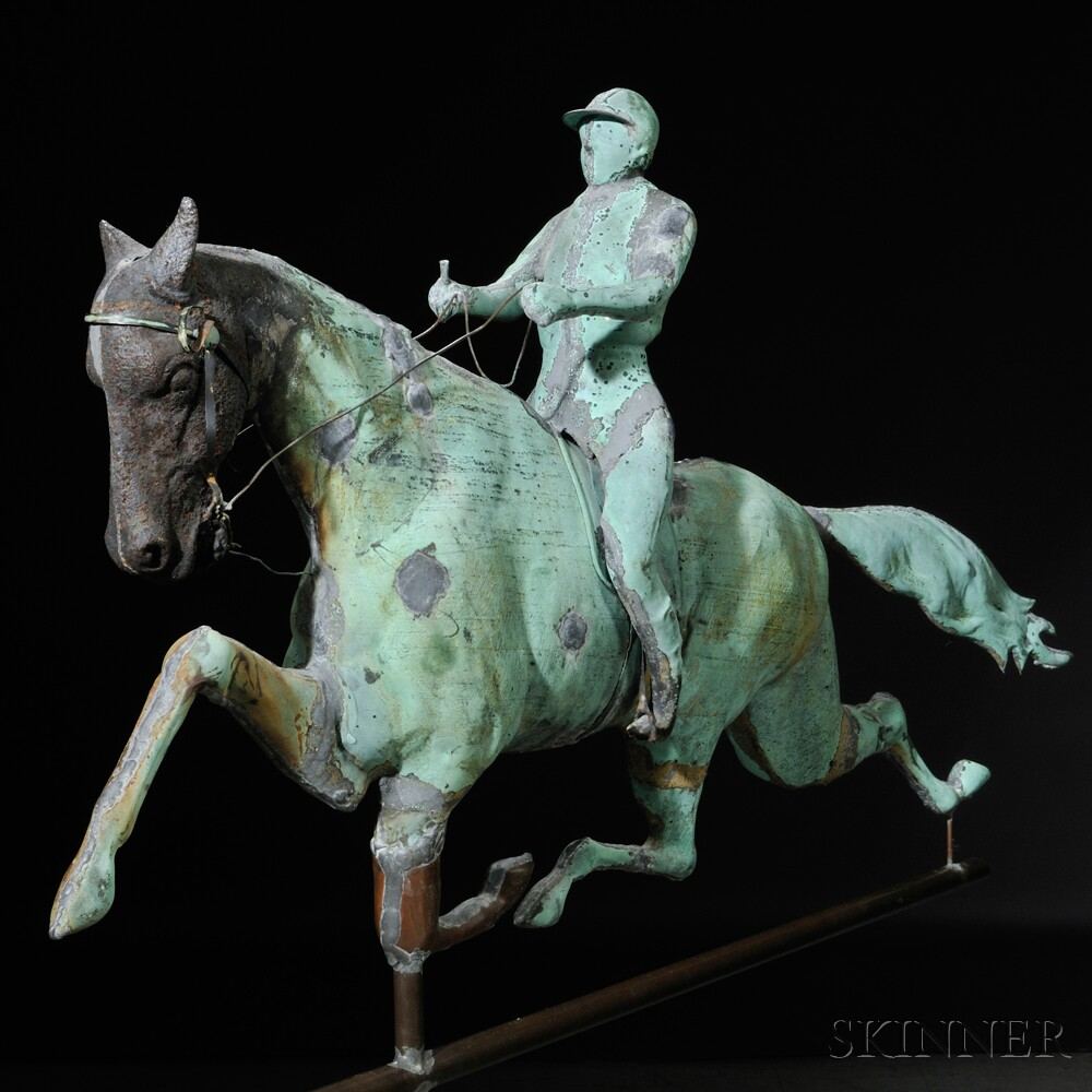 Molded Copper And Cast Iron Quot Dexter Quot Horse And Jockey