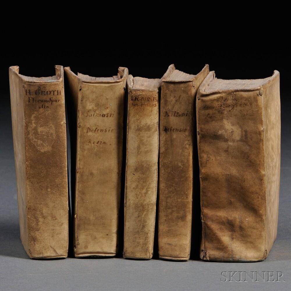 Grotius, Hugo (1583-1645) et alia, Five Volumes.