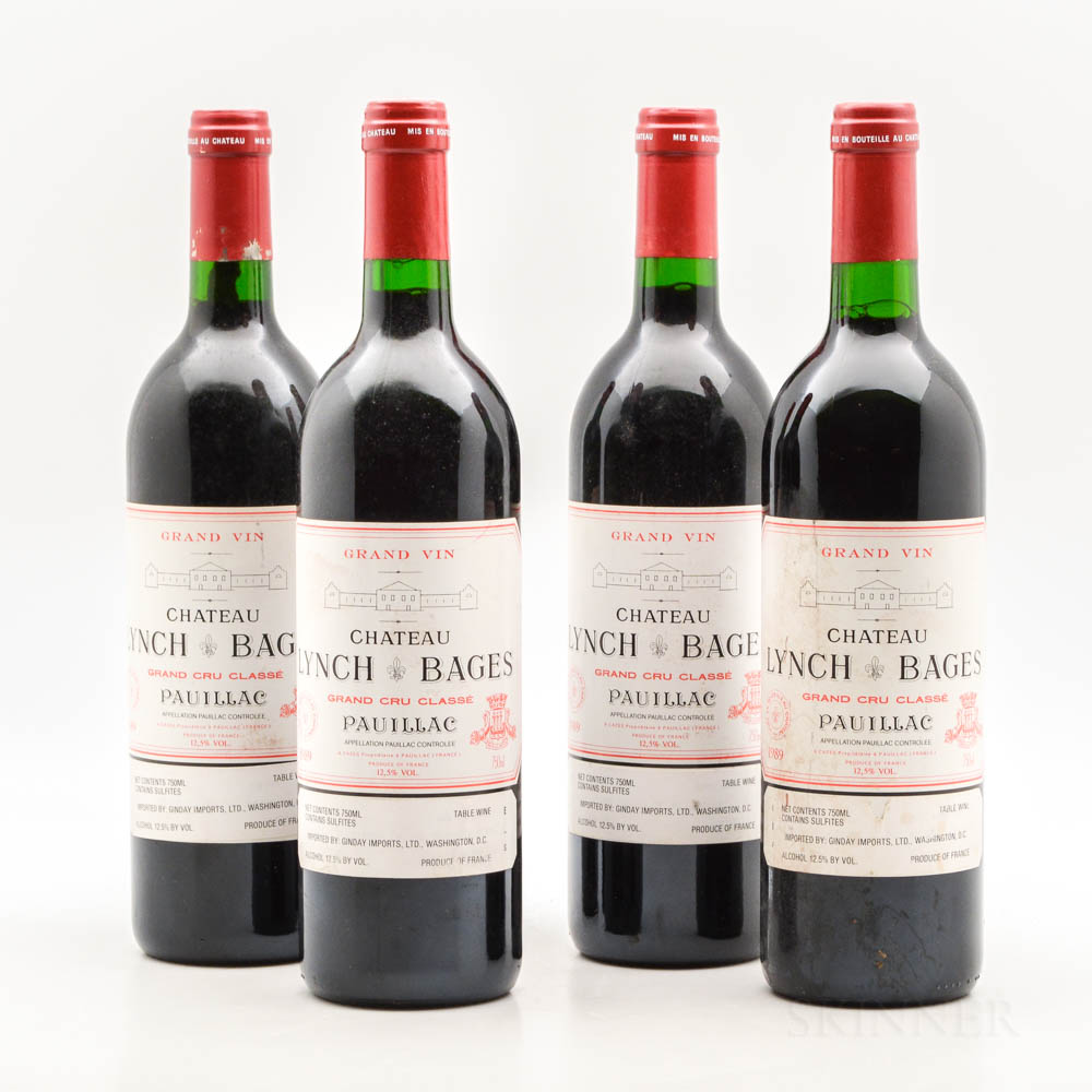 Chateau Lynch Bages 1989, 4 bottles