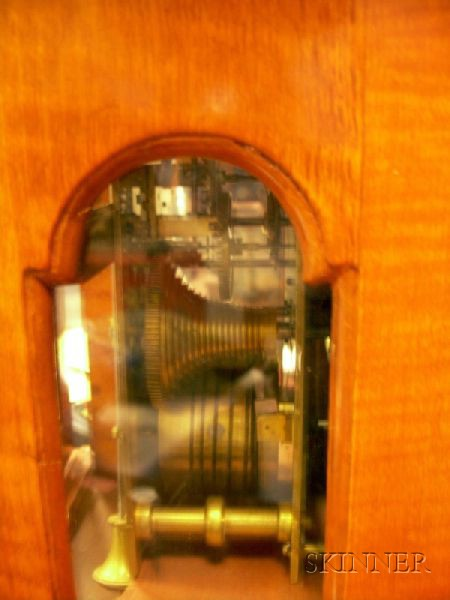 Tiger-maple Bracket Clock
