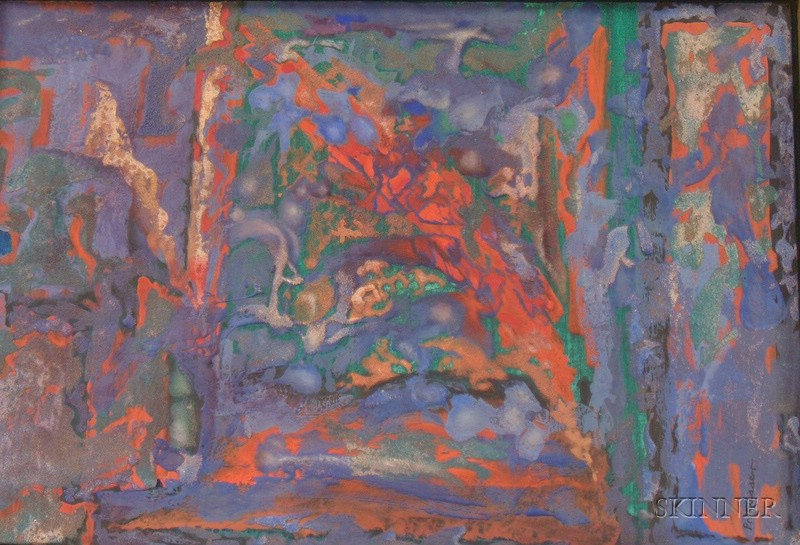 Robert Ormerod Preusser (American, 1919-1992)      Red Emergence