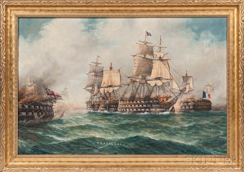 Louis Papaluca (Italian, 1890-1934)      Battle of Trafalgar