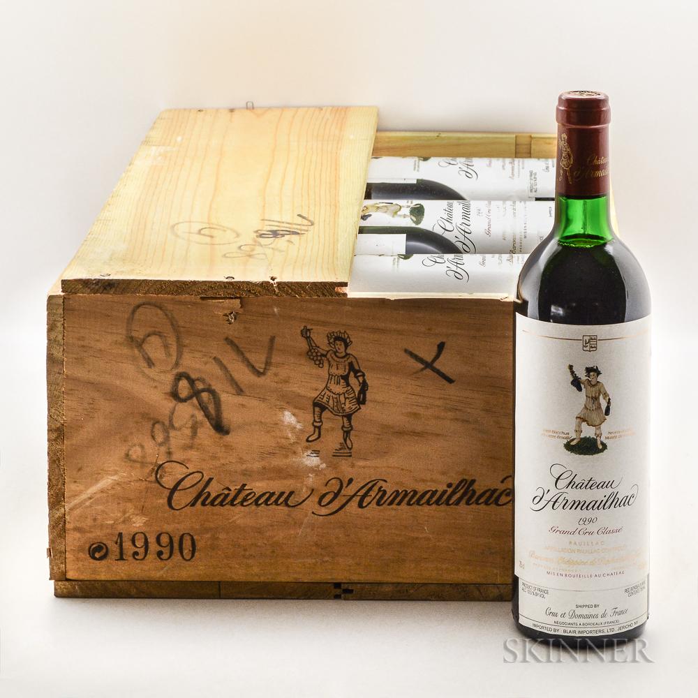 Chateau dArmailhac 1990, 12 bottles (owc)