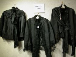 Five Victorian Assorted Beaded, Lace-Trimmed and Embellished Black Capes.