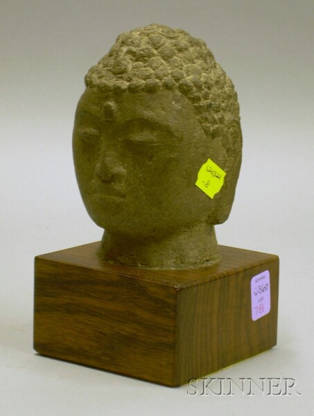 Carved Stone Head of the Buddha