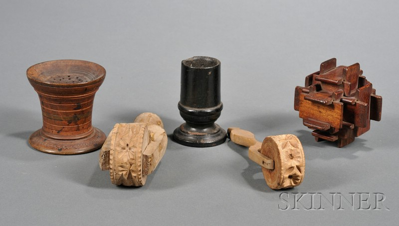 Five Early Wooden Items