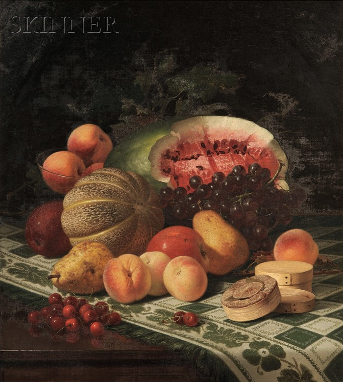 Robert Spear Dunning (American, 1829-1905)      Still Life with Fruit